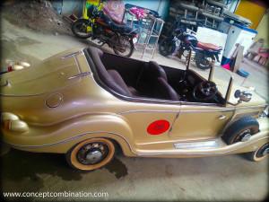 Vintage Car in Metalic Gold Color