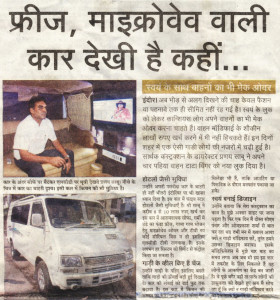Our Campervan in featured in Naidunia news paper