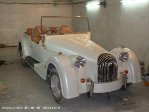 Making of White Vintage Car