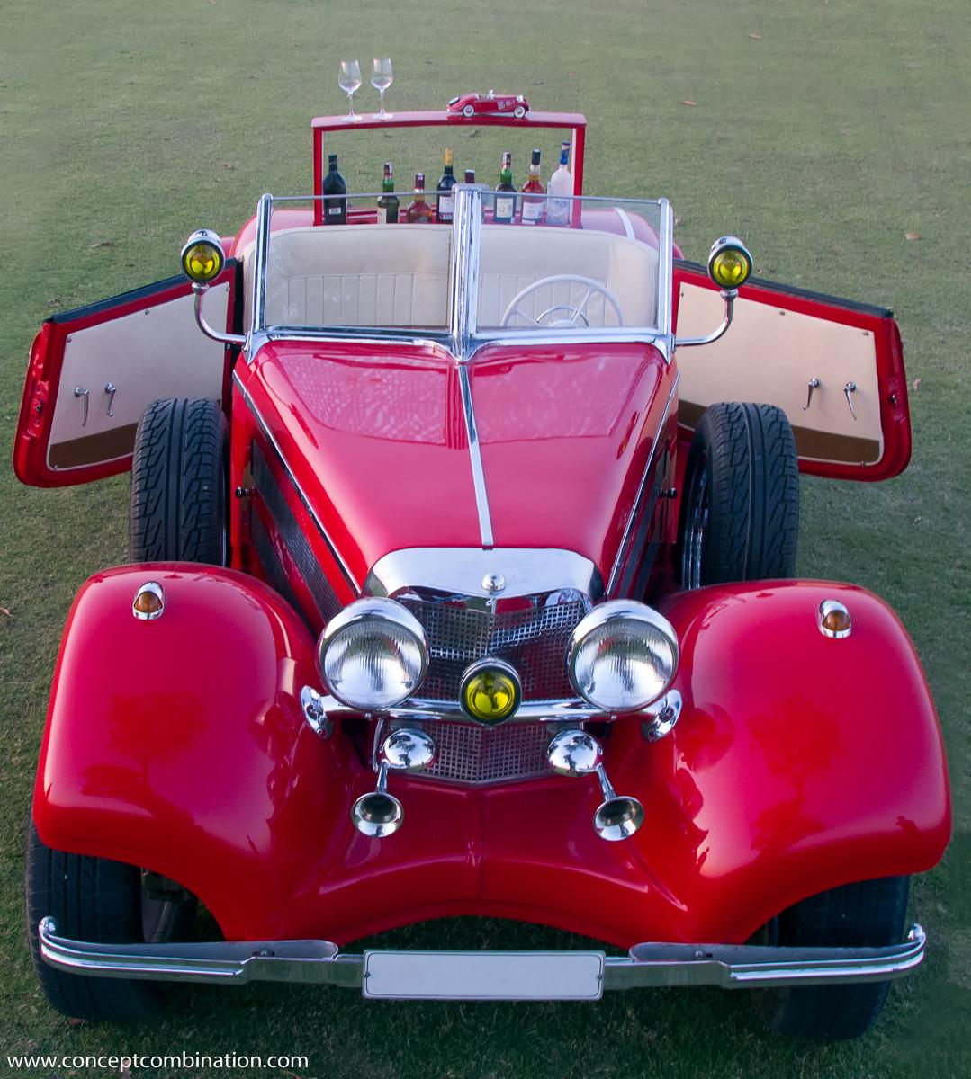 Replica of a vintage car model concept combination - Replica mobel legal ...