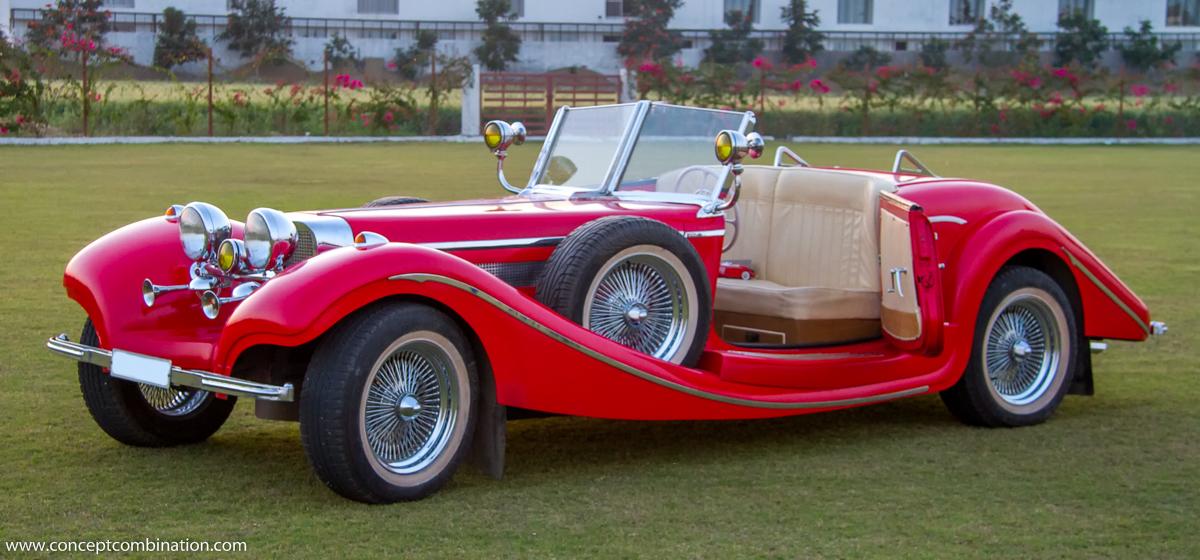 Replica of a Vintage Car Model - Concept Combination   Caravans ...